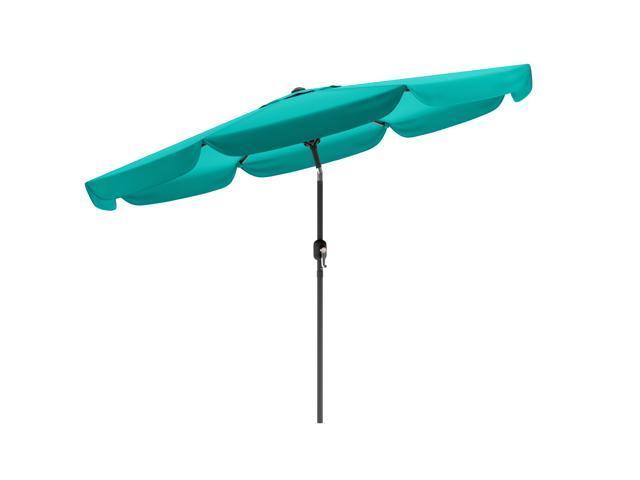 CorLiving PPU-260-U Tilting Patio Umbrella in Turquoise Blue