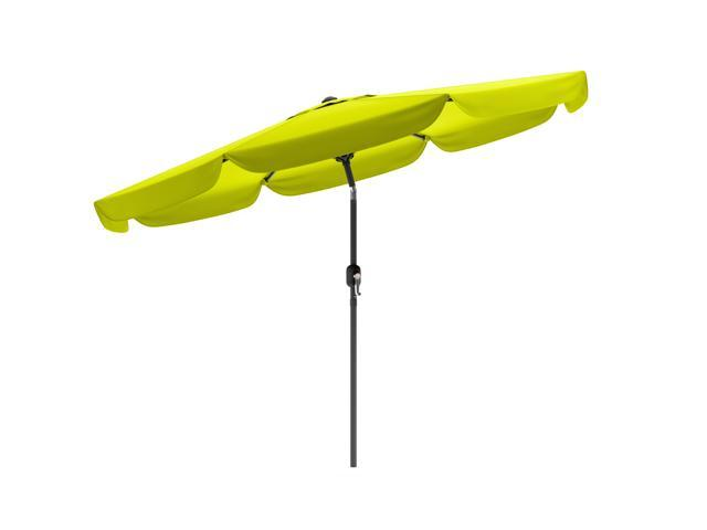CorLiving PPU-240-U Tilting Patio Umbrella in Lime Green