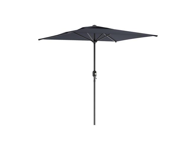CorLiving PPU-300-U Square Patio Umbrella in Black