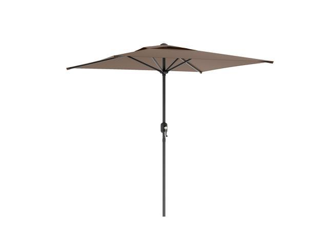 CorLiving PPU-320-U Square Patio Umbrella in Sandy Brown