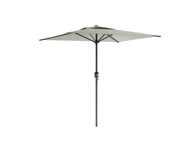 CorLiving PPU-330-U Square Patio Umbrella in Sand Gray