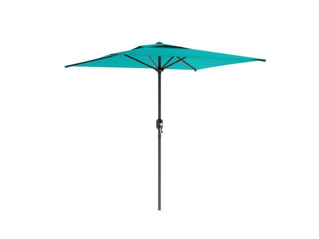 CorLiving PPU-360-U Square Patio Umbrella in Turquoise Blue