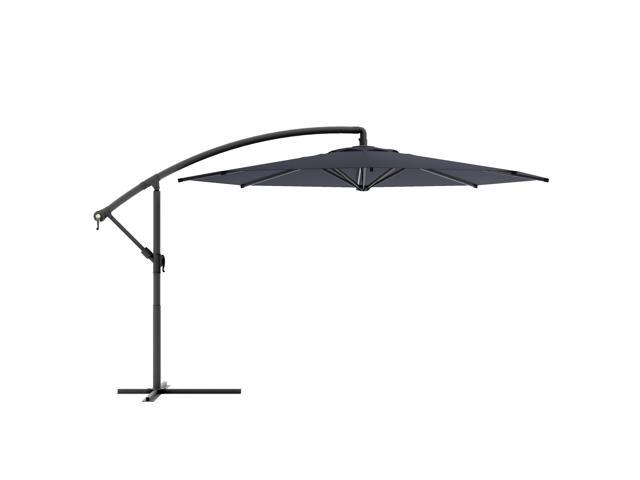 CorLiving PPU-400-U Offset Patio Umbrella in Black