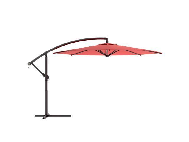 CorLiving PPU-450-U Offset Patio Umbrella in Wine Red