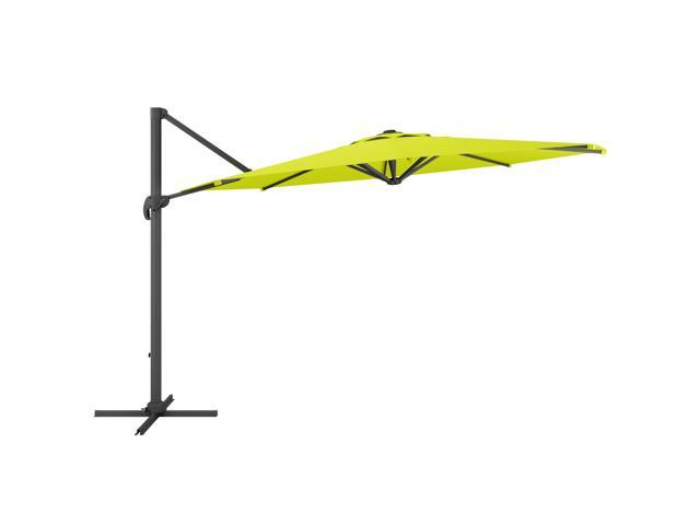 CorLiving PPU-540-U Deluxe Offset Patio Umbrella in Lime Green