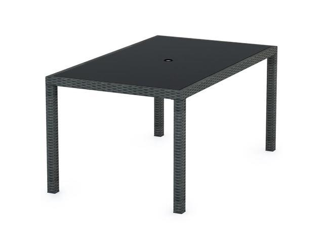 Sonax T-206-TPP Park Terrace Patio Dining Table in Charcoal Black Weave