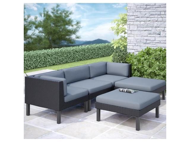CorLiving PPO-804-Z Oakland 5 pc Sofa with Chaise Lounge Patio Set