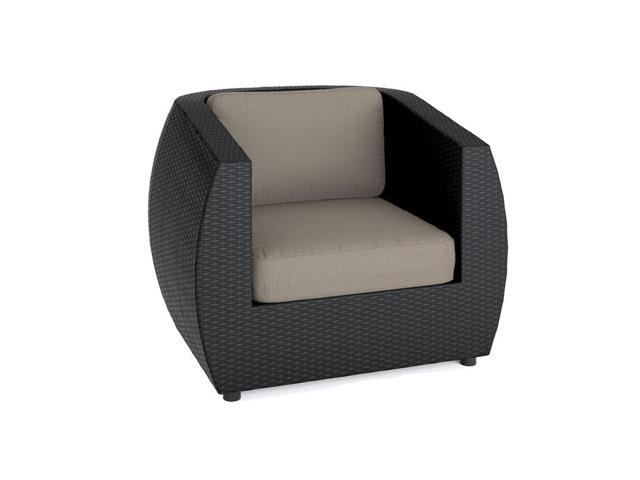 CorLiving PPS-601-C Seattle Patio Chair in Textured Black Weave
