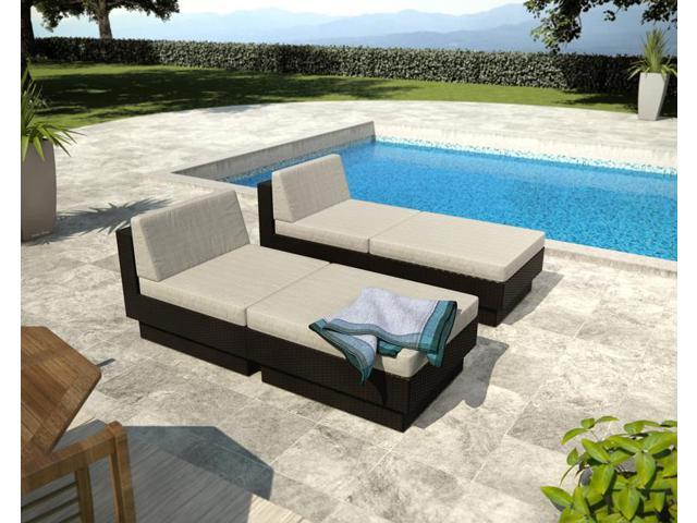 Sonax PPT-306-Z Park Terrace Black Textured 4 Piece Lounger Patio Set