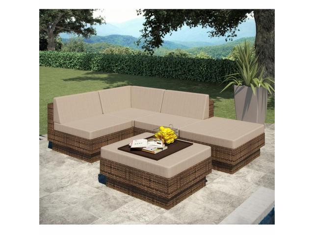 Sonax Z-173-TPP Park Terrace 5 Piece Sectional Patio Set