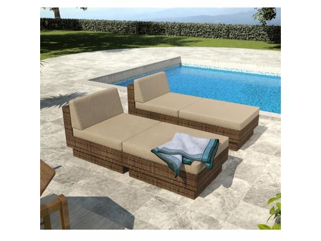 Sonax PPT-376-Z Park Terrace Saddle Strap Weave 4 Piece Lounger Patio Set