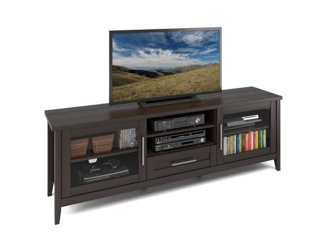 CorLiving TJK-684-B Jackson Extra Wide TV Bench in Espresso Finish