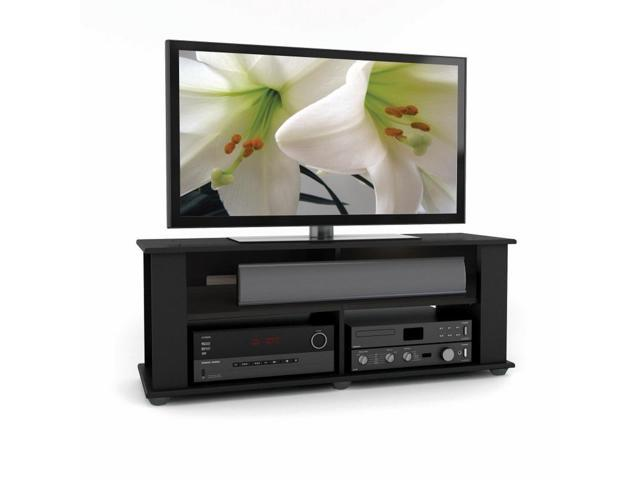 CorLiving TBF-604-B Bakersfield Ravenwood Black TV/Component Stand