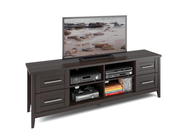 CorLiving TJK-682-B Jackson Extra Wide TV Bench in Espresso Finish