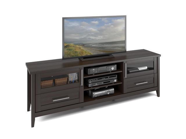 CorLiving TJK-687-B Jackson Extra Wide TV Bench in Espresso Finish