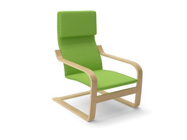 CorLiving LBQ-736-C Aquios Bentwood High Back Armchair in Apple Green