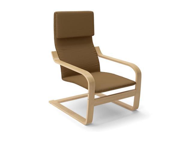 CorLiving LBQ-726-C Aquios Bentwood High Back Armchair in Warm Brown