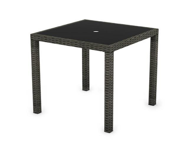 Park Terrace Square Patio Dining Table in Charcoal Black Weave