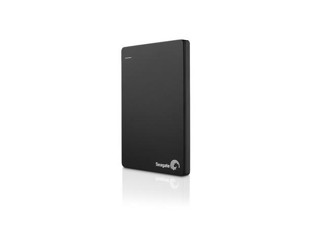 Seagate Backup Plus Slim 500GB Portable Hard Drive with Mobile Device Backup USB 3.0 (STCD500102) - Black