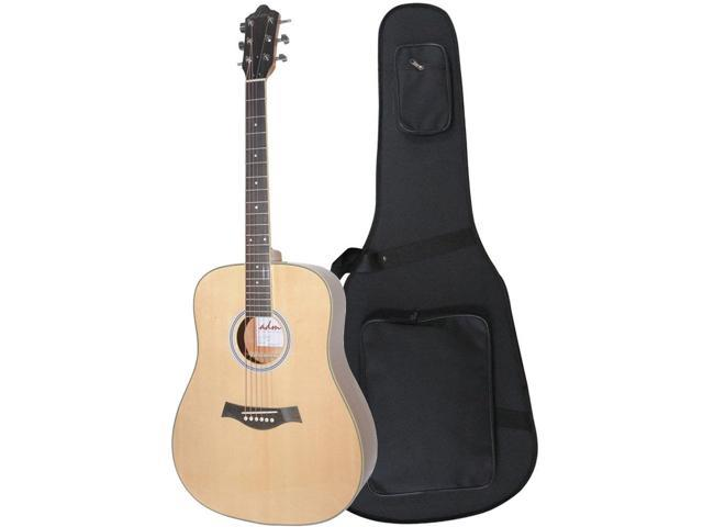 adm 41 full size premium dreadnought acoustic electric guitar with foamed case solid spruce. Black Bedroom Furniture Sets. Home Design Ideas