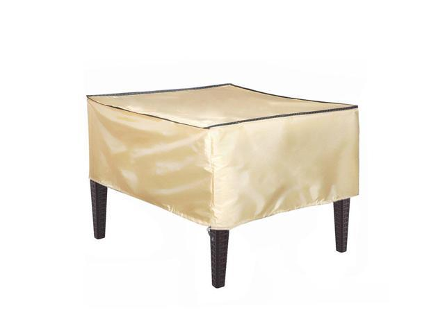 Abba Patio Rectangular Coffee Side Table Cover Outdoor Porch Ottoman Table Cover Water And