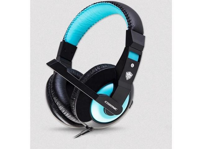 Gaming Stereo Headset Professional Over Ear Headphones  with Microphone-blue