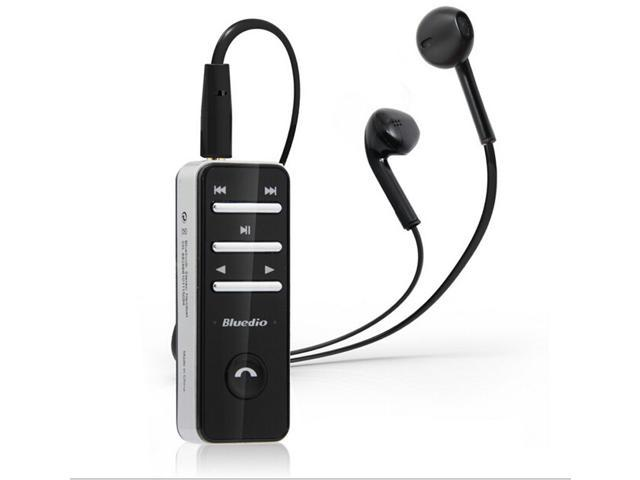 Wireless Bluetooth Stereo Headset Earphone For iPhone Samsung 3.5mm In-Ear with Black