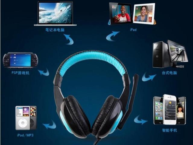 Best Elite USB Wired Universal Top Stereo PC Computer Mac Laptop Video Virtual Gaming Headset