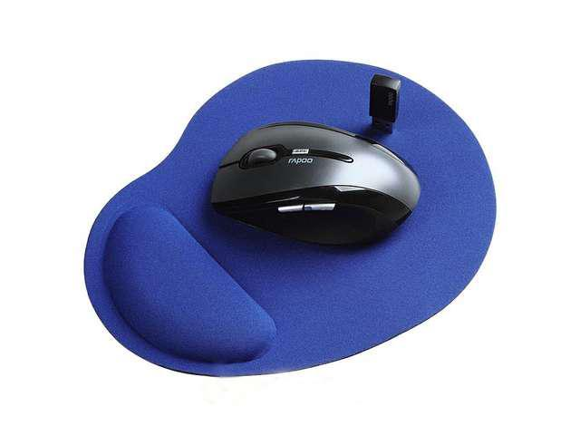 NEW Wrist Comfort Mouse Pad Mice Pad for Optical Mouse(BLUE)