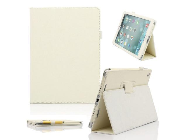 Folio Folding Slim PU Leather Stand Case Cover For New Apple iPad Air 5 5th Gen --White