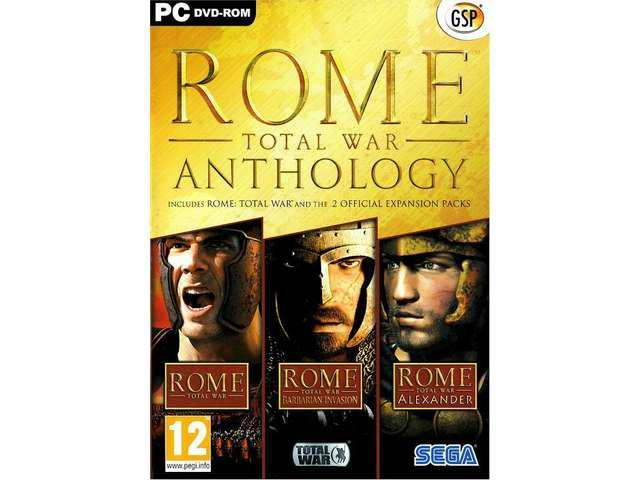 ROME TOTAL WAR + BARBARIAN + ALEXANDER ANTHOLOGY for PC XP/VISTA/7 SEALED