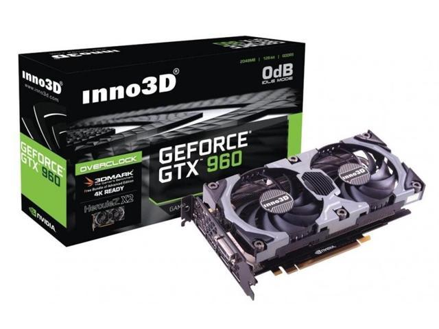 Inno3D NVIDIA GeForce GTX 960 OC 2GB DDR5 PCIE 3.0 Video graphics Card 4K HDMI shipping from US