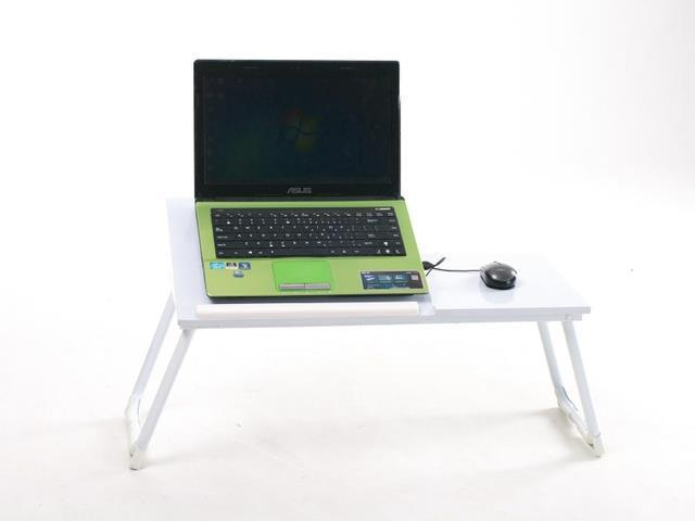 Portable laptop lap desk folding laptop n ew modern metal table stand computer notebook bed tray - Bed tafel ...