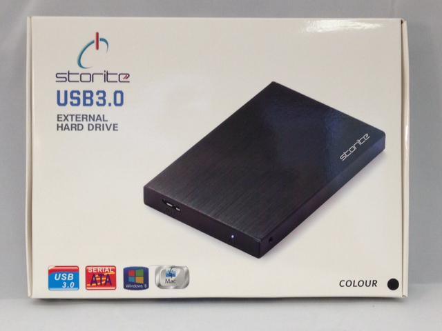 Storite 1TB FAT32 Portable External Hard Drive (USB 3.0)- Black