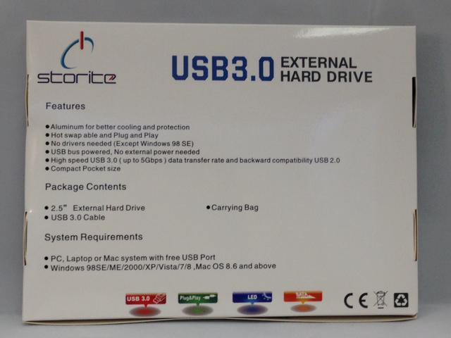 Storite 320GB FAT32 Portable External Hard Drive (USB 3.0)- Blue