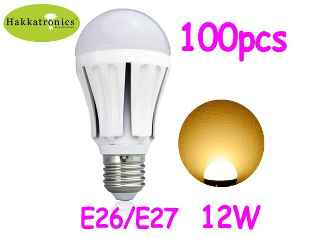 100 pieces large box 12w non dimmable led bulbs lamp e26. Black Bedroom Furniture Sets. Home Design Ideas