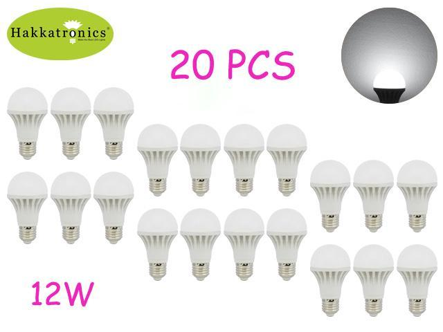 20X 12W LED BULB LAMP LIGHT E26/E27 AC 85-265V A19/A60 6000-6500K COOL WHITE NON-DIMMABLE 100 WATTS REPLACEMENT