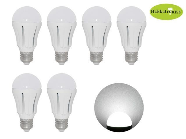 6 Pieces 12w Globes A19 LED Bulb Light Lamp 6000-6500k Cool White E27/E26  AC110v No Dimmable Indoor lighting 100w Replace ...