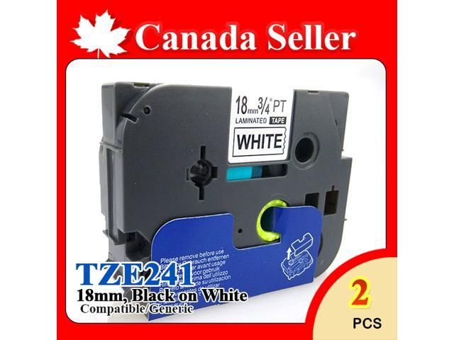2 Pack NEXTPAGE ® Compatible P-Touch Label Tape For Brother TZE241 18mm 3/4