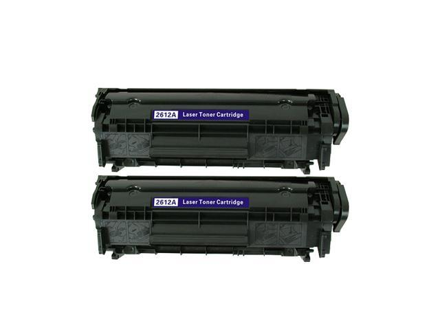 2 Pack NEXTPAGE® Compatible Toner Cartridge for HP Q2612A 12A Black High Yield Toner use with HP LaserJet 1012, 1018, 1020, 1022, 1022n, 1022nw, 3015, 3020,
