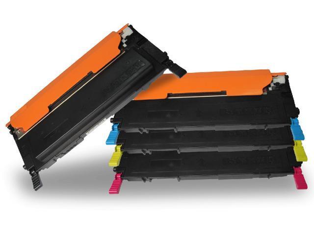 4 Pack NEXTAGE® Compatible Samsung CLT-407 CMYK Toner Cartridges Set Use with Samsung CLT-C407S CLP-320 325W CLX-3180 3185FW (CLT-K407,C407,Y407,M407)
