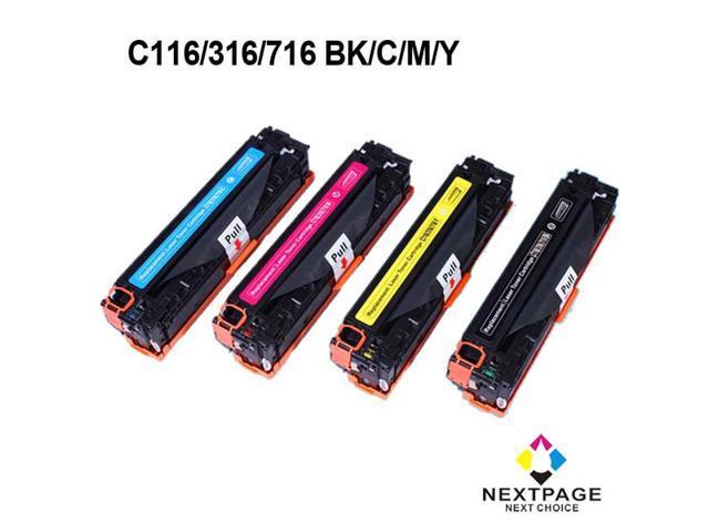 Nextpage® 4 Pack Compatible Canon 116 BK,C,M,Y (CRG116/CRG316/CRG716) Toner Cartridges For Canon MCANON ImageClass MF8050CN CANON ImageClass MF8080Cw