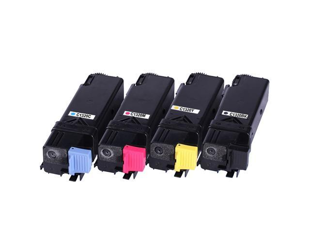 4 Pack Compatible Dell 1320/1320C Toner Cartridges Replacement For Dell 1320/1320C/1320CN Printers