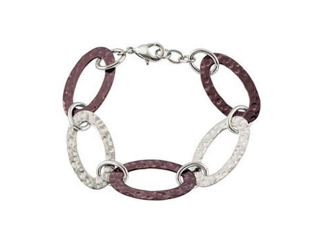 Gold Plated Hammered Stainless Steel Link Bracelet