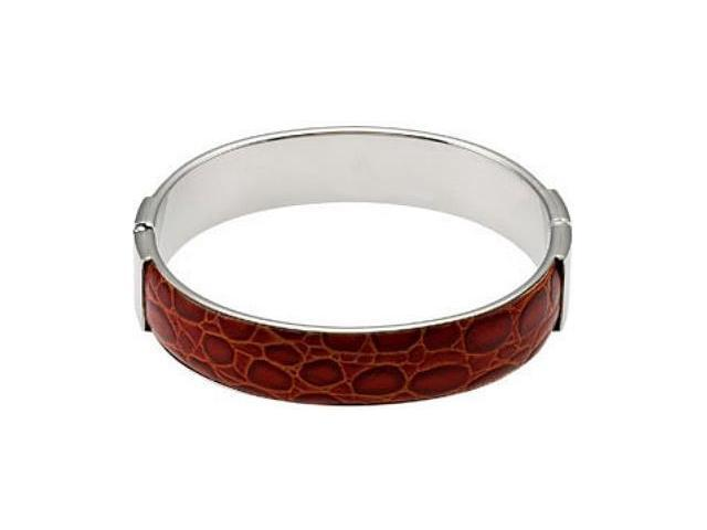 Stainless Steel & Dark Brown Leather Bracelet