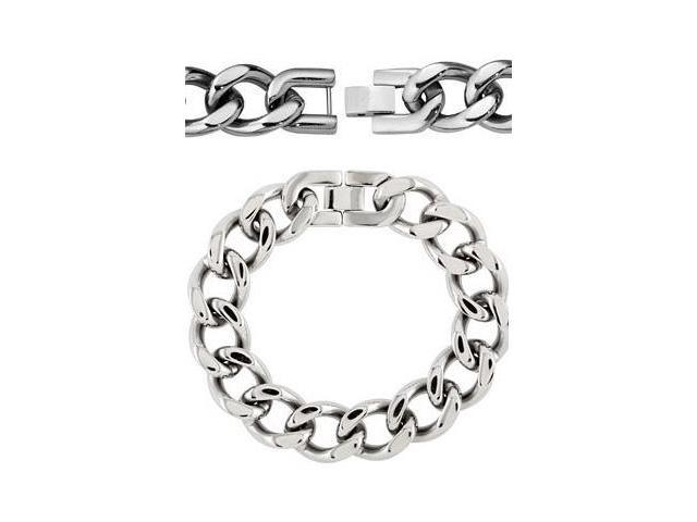 9.25 Inch Stainless Steel Curb Chain Link Bracelet
