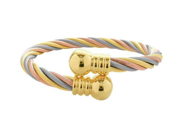Tri-Colour Steel Magnetic Bangle Style Bracelet