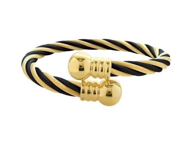 Steel Two-Tone Magnetic Bangle Style Bracelet