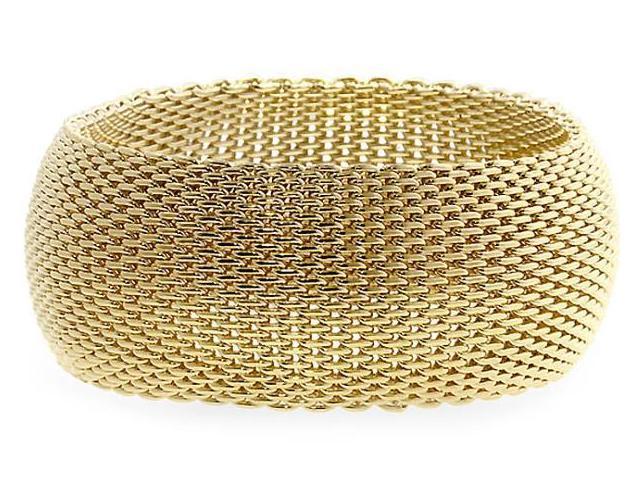 Ladies 1 Inch Wide Monaco Gold Style Bracelet