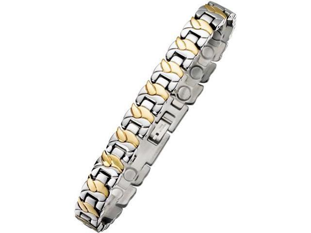 9mm Designer Two-Tone Steel Magnetic Bracel